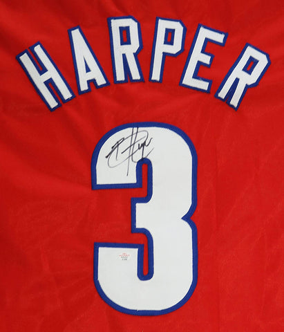 Bryce Harper Philadelphia Phillies Signed Autographed Red #3 Custom Jersey PAAS COA