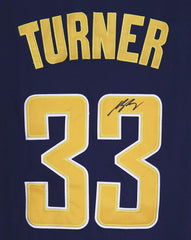 Myles Turner Indiana Pacers Signed Autographed Blue #33 Jersey