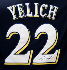 Christian Yelich Milwaukee Brewers Signed Autographed Blue #22 Jersey JSA COA