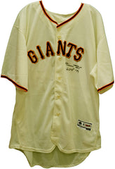 Willie Mays San Francisco Giants Signed Autographed Cream #24 Jersey Athlete Hologram COA