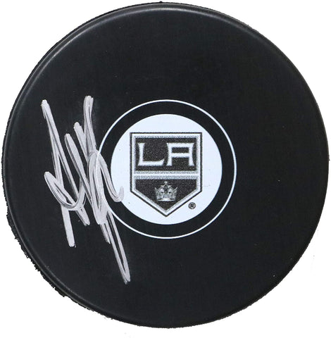Anze Kopitar Los Angeles Kings Signed Autographed Kings Logo NHL Hockey Puck Global COA with Display Holder