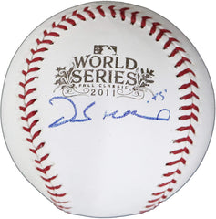 Derek Holland Texas Rangers Signed Autographed Rawlings 2011 World Series Official Baseball JSA COA with Display Holder