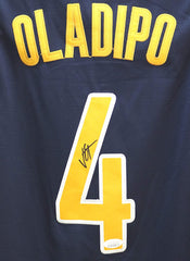 Victor Oladipo Indiana Pacers Signed Autographed Blue #4 Jersey Size 52 JSA COA