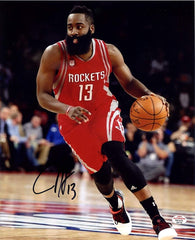 "James Harden Houston Rockets Signed Autographed 8"" x 10"" Dribbling Photo PAAS COA"