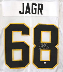 Jaromir Jagr Pittsburgh Penguins Signed Autographed White #68 Custom Jersey PAAS COA