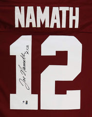 Joe Namath Alabama Crimson Tide Signed Autographed Red #12 Jersey Global COA