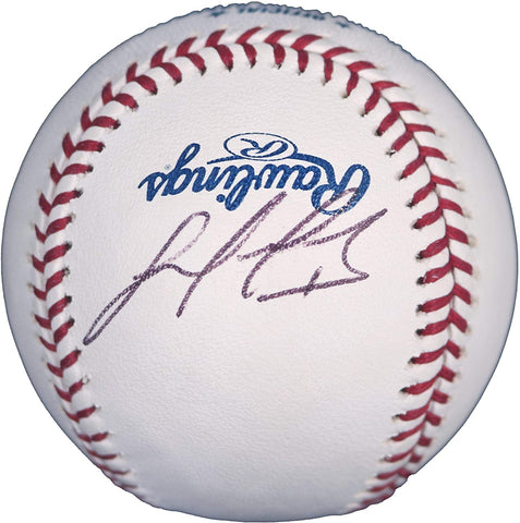 Luis Valbuena Houston Astros Signed Autographed Rawlings Official Major League Baseball JSA COA