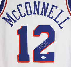 T.J. McConnell Philadelphia 76ers Signed Autographed White #12 Jersey JSA COA