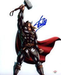 "Stan Lee Signed Autographed 8"" x 10"" Mighty Thor Photo PAAS COA"