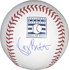 George Brett Kansas City Royals Signed Autographed Rawlings Hall of Fame Official Major League Baseball with Display Holder Global COA