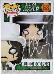 Alice Cooper Signed Autographed FUNKO POP #68 Vinyl Figure Global COA