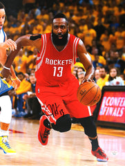 "James Harden Houston Rockets Signed Autographed 11"" x 14"" Photo PAAS COA"