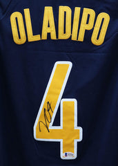 Victor Oladipo Indiana Pacers Signed Autographed Blue #4 Jersey Beckett COA