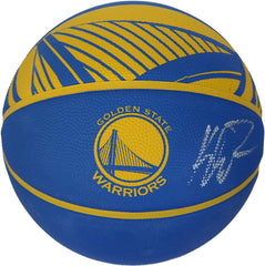 Klay Thompson Golden State Warriors Signed Autographed Spalding Warriors Logo Basketball Beckett Letter COA