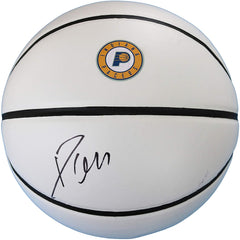 Domantas Sabonis Indiana Pacers Signed Autographed White Panel Basketball JSA COA