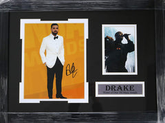 "Drake Canadian Rapper Signed Autographed 21-1/8"" x 15-3/4"" Framed Photo Pinpoint COA"