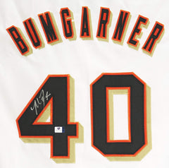 Madison Bumgarner San Francisco Giants Signed Autographed White #40 Custom Jersey Global COA