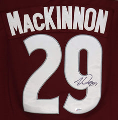 Nathan MacKinnon Colorado Avalanche Signed Autographed Burgundy #29 Jersey Beckett COA