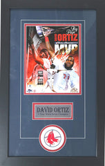 "David Ortiz Boston Red Sox Signed Autographed 22"" x 14"" Framed Big Papi World Series MVP Photo"