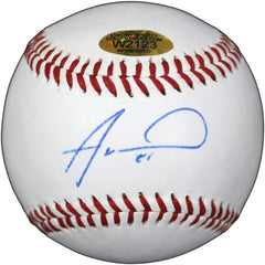 Alex Wood Los Angeles Dodgers Signed Autographed Rawlings Official League Baseball Witnessed LSC COA