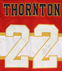 Shawn Thornton Florida Panthers Signed Autographed Red #22 Custom Jersey JSA Witnessed COA