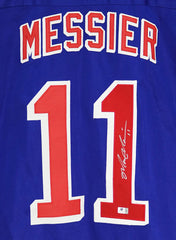 Mark Messier New York Rangers Signed Autographed Blue #11 Custom Jersey Global COA