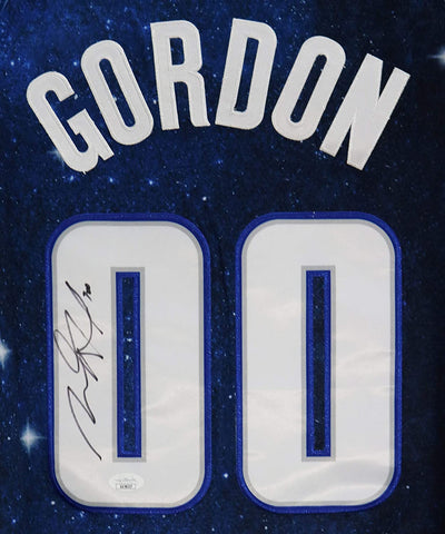 Aaron Gordon Orlando Magic Signed Autographed Blue City Edition #00 Jersey JSA COA