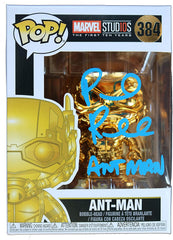 Paul Rudd Signed Autographed Gold Ant-Man Marvel Studios FUNKO POP #384 Vinyl Figure Global COA