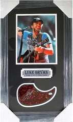 "Luke Bryan Country Singer Signed Autographed Pickguard 24"" x 14-1/8"" Framed Display Pinpoint COA"