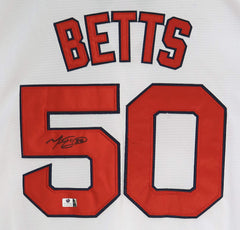 Mookie Betts Boston Red Sox Signed Autographed White #50 Jersey Global COA