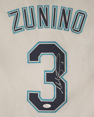Mike Zunino Seattle Mariners Signed Autographed White #3 Jersey JSA COA