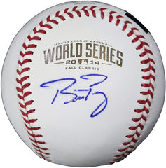 Buster Posey San Francisco Giants Signed Autographed Rawlings 2014 World Series Official Baseball Global COA with Display Holder
