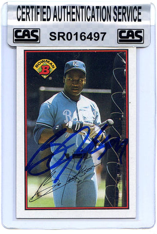 Bo Jackson Kansas City Royals Signed Autographed 1989 Bowman #126 Baseball Card CAS Certified