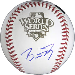 Buster Posey San Francisco Giants Signed Autographed Rawlings 2010 World Series Official Baseball Global COA with Display Holder