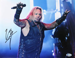 "Vince Neil Motley Crew Signed Autographed 11"" x 14"" Photo Beckett Witnessed COA"