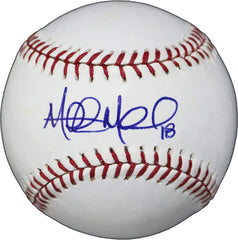 Mitch Moreland Boston Red Sox Signed Autographed Rawlings Official Major League Baseball JSA COA with Display Holder