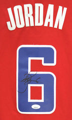 DeAndre Jordan Los Angeles Clippers Signed Autographed Red #6 Jersey JSA COA