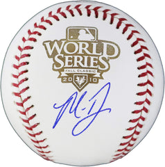 Madison Bumgarner San Francisco Giants Signed Autographed Rawlings 2010 World Series Official Baseball Global COA with Display Holder
