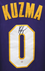 Kyle Kuzma Los Angeles Lakers Signed Autographed Purple #0 Jersey PAAS COA