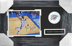 "Russell Westbrook Oklahoma City Thunder Signed Autographed 22"" x 14"" Framed Dunk Photo PP COA"