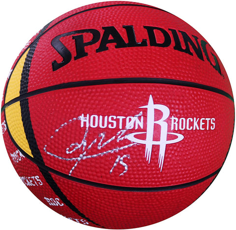 Clint Capela Houston Rockets Signed Autographed Spalding Rockets Logo Mini Basketball