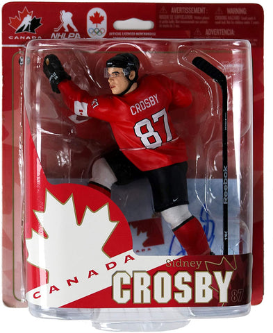 Sidney Crosby Pittsburgh Penguins Signed Autographed McFarlane Team Canada Action Figure Global COA