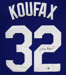 Sandy Koufax Los Angeles Dodgers Signed Autographed Blue #32 Jersey Global COA