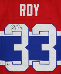 Patrick Roy Montreal Canadiens Signed Autographed Red #33 Jersey Beckett COA