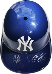 Aaron Judge and Gary Sanchez New York Yankees Signed Autographed Full Size Souvenir Replica Batting Helmet PP COA