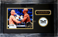 "Floyd Mayweather Jr. Signed Autographed 22"" x 14"" Framed Boxing Mayweather McGregor Fight Photo PAAS COA"