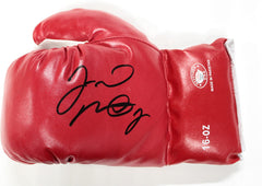 Floyd Mayweather Jr. Signed Autographed Red Defender Boxing Glove PAAS COA