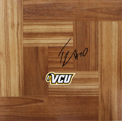 Troy Daniels Virginia Commonwealth Rams Autographed Signed Basketball Floorboard