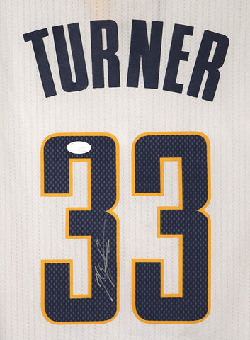 Myles Turner Indiana Pacers Signed Autographed White #33 Jersey JSA COA