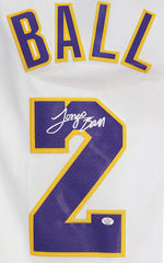 Lonzo Ball Los Angeles Lakers Signed Autographed White #2 Jersey PAAS COA